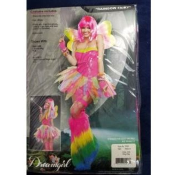 f73e732bc8 Dreamgirl Dresses   Rainbow Fairy Halloween Costume Adult Tutu Dress ...